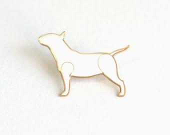 Bull Terrier pin - Bull Terrier jewelry - Bullterrier brooch - Bull Terrier gift - Bull Terrier Lovers - Lapel pin - Bull terrier art