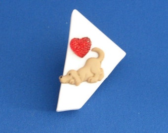 Love dogs brooch/fridge magnet