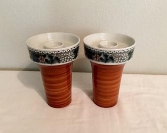 Goebel Burgund Candlestick Pair