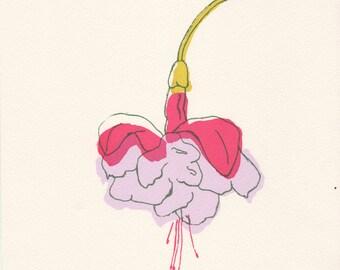 Dancing Petals 'A5 Original Print'