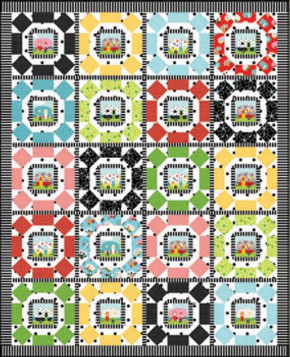 Round Em Up Quilt Pattern