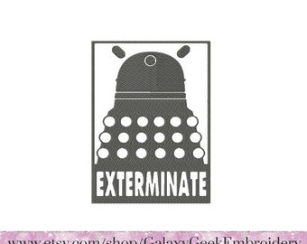 Doctor Who Embroidery design dr who embroidery dalek exterminate embroidery design geek embroidery design tardis dalek embroidery tardis