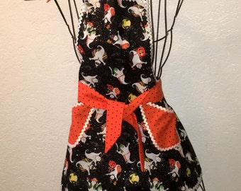 Child Apron, Ghosts Aprons, Traditional Apron, Full apron, Baking, Cooking, Crafting, Halloween