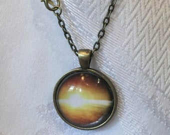 Earth's sunrise Pendant necklace