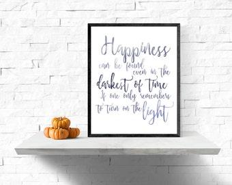 Harry Potter Dumbledore Quote, Albus Dumbledore Quote, Gift Idea for Harry Potter Fan, Harry Potter Art Print, Wall Art, Harry Potter Poster