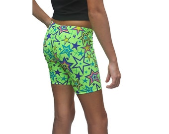Girls Star Bike Shorts, Mid-Thigh Length Shorts, Kids Shorts