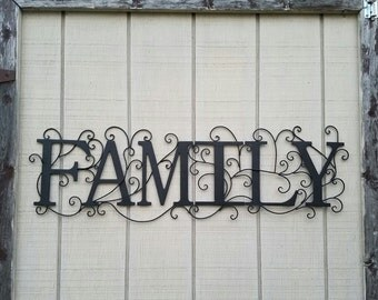Family Metal Wall Art metal family sign   etsy