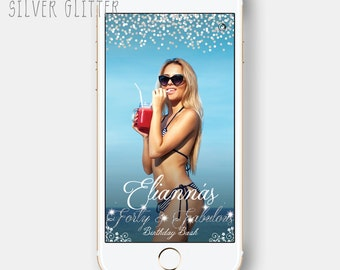 Glitter Glamour Sparkle Bling Bling Birthday Bday Bash Quinceanera Debut Party Snapchat Geofilter GeoSnapchatFilters Floral Confetti Geotag