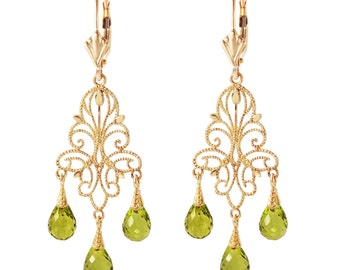 Peridot Earrings/ August Birthstone/Gold Peridot Earrings/Rose Gold Peridot Earrings/ White Gold Peridot Earrings/14k gold peridot earrings