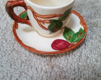 Vintage Franciscan Apple Cup and Saucer