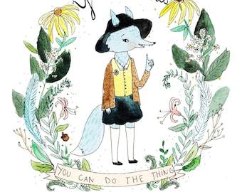 You Got This. Wolf Girl art print.