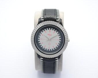 Watch BIJOWIN - leather strap watch - watch zipper