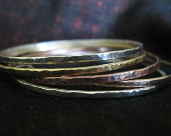 Forged Mixed Metal Bangles