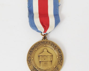 Vintage National Guard Long and Honorable Service medal-State of Illinois-Military