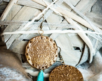 Damask earrings