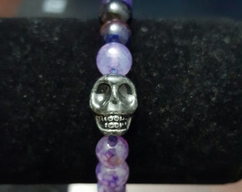 Purple Skull Bracelet
