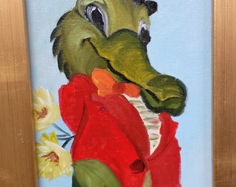 Gator Goes a Courting Barbara Haviland-Barbsgarden Texas Artist