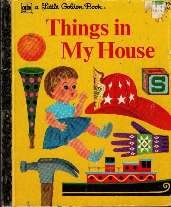 Things in My House a Little Golden Book - Joe Kaufman - 1978 - Vintage Kids Book