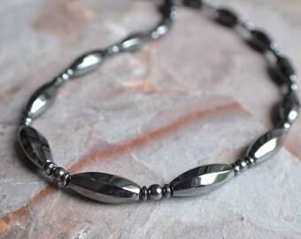 The Taylor- Hematite Men's Necklace