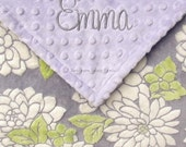 Baby Girl Baby Blanket , Baby Girl Personalized Gift , Monogrammed Baby Blanket , Newborn Baby Girl Gifts  , Baby/Toddler Size, 30x36