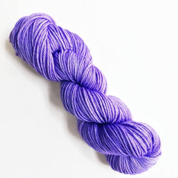 lilac / hand dyed yarn / fingering sock dk bulky yarn / super wash merino wool yarn / single or ply/ choose base / light grape purple yarn