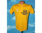 Urbani Tour of York Region Cycling Jersey Yellow Vintage 1970s - 1980s
