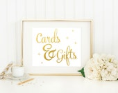 Cards and Gifts Wedding Sign / ACTUAL FOIL Wedding Sign / Gold Foil Wedding Sign / Silver Wedding Sign / Cards and Gifts Print