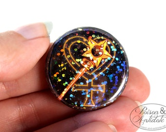 Holographic Sailor Venus in Space Pin - 1.25 pinback button