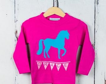 Girls Horse T shirt