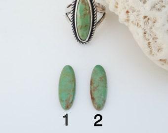 Made to Size Ring Green Turquoise Sterling Silver, Kingman Turquoise Bezel Set Stone Ring, Artisan Metalsmith Ring, Bohemian Boho Chic Ring