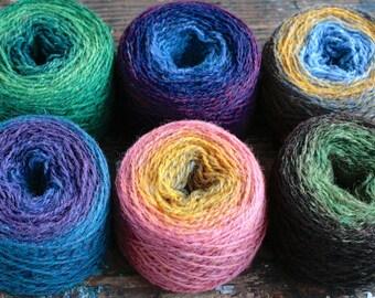 Pure wool knitting yarn - 6 x 41 g