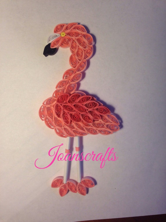 Pink Flamingo in Quilling Ornament