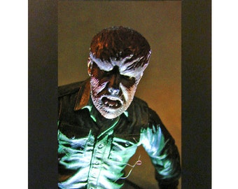 "Wolf Man Toy Photograph 4x6"" Lon Chaney Universal Monsters"