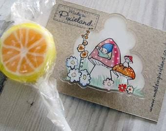 Sunny days Brooch and gift box