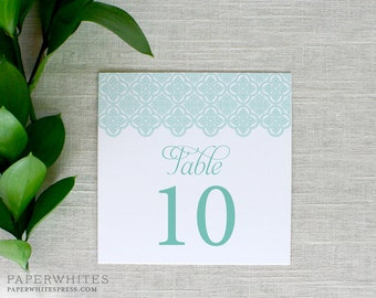 Wedding Table Numbers, Trellis Table Numbers, Printed Table Numbers, Vintage Wedding Table Numbers, Wedding Reception Table Cards