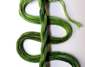 "Embroidery floss ""Leafy"" hand dyed cotton"