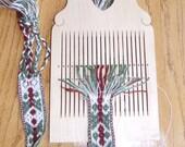 Hard maple double hole tape loom