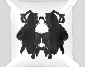 Rorschach Ink Blot Throw Pillow 18x18 #29