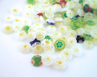 10mm Lampwork Millefiori Glass Cabochons