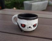 Super small vampire shot glass, Coleman's Porcelain. Hand thrown.