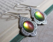 Alhambra Magic - Frosted Sunset in Silver - Color-Changing Earrings - Prism Collection