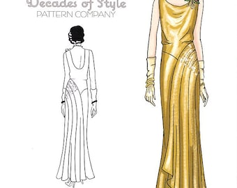 Pattern Decades of Style  1930's Leading Lady Dress