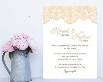 Lace Wedding Invitation - Fast Lace Wedding Invitations, Lacey Wedding Invitation - Inexpensive Lace Wedding Invitation