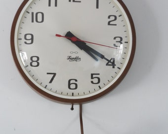 Franklin Electric Wall Clock Large Industrial Old School