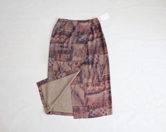 muted southwestern skirt | calf skirt