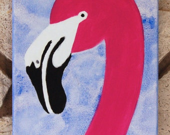 Flamingo - Original Acrylic Painting - 8x10 inches