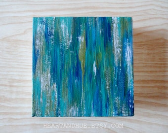 4x4 BLUE GREEN ABSTRACT