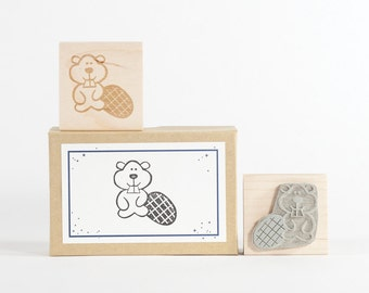 BeaverRubber Stamp Forest Creatures
