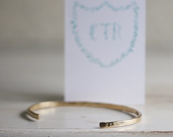 CTR -- Hand Stamped ADJUSTABLE Cuff Gift Set