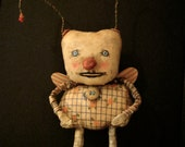RESERVED for Sherry , bug art doll , sandy mastroni, odd monster bug , whimsical wall art ,shelf art,